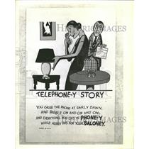 "1942 Press Photo ""A Telephone-y Story"" - RRT91331"