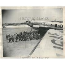 1950 Press Photo 37th Troop Carrier Wing training plane