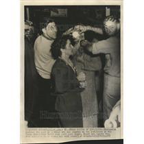1944 Press Photo Naval Ammo Depot Explosion Victim