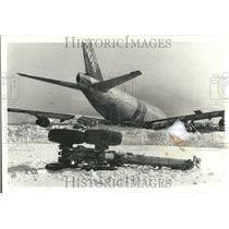 1979 Press Photo Jumbo Cargo Jet Delta Airliner O'Hare - RRT23405