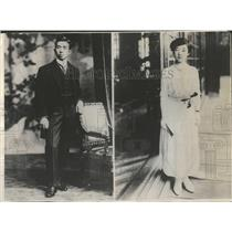1923 Press Photo Prince Regent of Japan and Princess Na - RRT73497