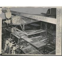 1948 Press Photo Smithsonian Institution Brothers Plane