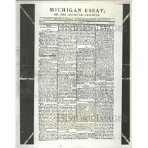 1934 Press Photo Facsimile Richard Newspaper Essay MI