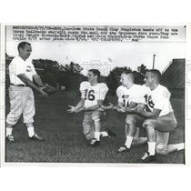 1958 Press Photo Clay Stapleton Iowa Coach Tailbacks - RRT27191