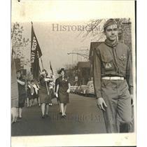 1964 Press Photo Veterans Day Scout Lafayette Chicago