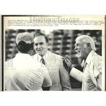 1976 Press Photo Pre-Game Conference With Rams Coach - RRT25247