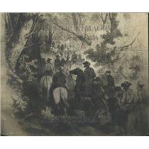 1911 Press Photo March Crestva Mts Horses People Paint - RRT30987