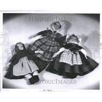 1961 Press Photo Mirren Barbie Dolls.