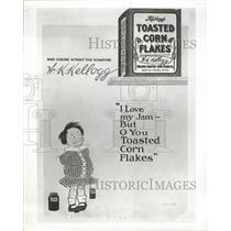 1956 Press Photo Kelloggs toasted corn flakes advertise