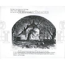 1967 Press Photo Billopp Mansion Staten Island Drawing - RRT25805
