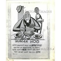 "1942 Press Photo ""What is a Human Hog"" - RRT91325"