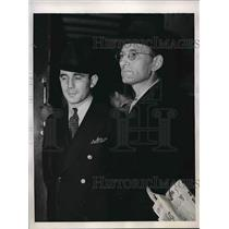 1938 Press Photo Erich Glaser, US Army, Otto Hermann Voss, German Spy Trial