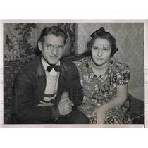 1938 Press Photo Harold Gates and His Sister Marion