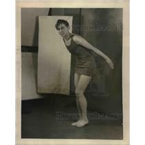 1927 Press Photo Mary Murawsky, Lincoln High School, Swimmer