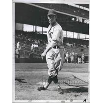 1935 Press Photo August Galam Left Fielder Chicago Cubs Baseball