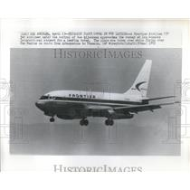 1972 Press Photo Frontier Airlines 737 - RRS88365