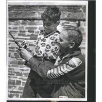 1951 Press Photo Fishing  Techniques Fish are normally - RRS44173