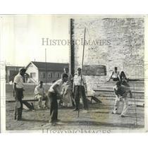 1936 Press Photo Kids Tennis WPA Stockyards Dist - RRS75399