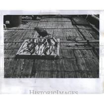 1954 Press Photo William Willis Raft Solo Pacific Ocean - RRS95145