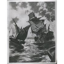 1937 Press Photo Frigate Philadelphia Guarded Harbor - RRS40041