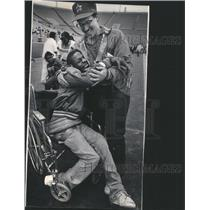 1987 Press Photo Derrick Jones American football - RRS55683