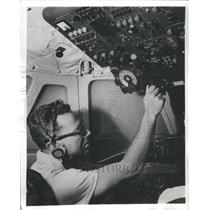 1969 Press Photo Pilot Serling Cockpit Author Aviation - RRS61195