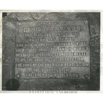 1955 Press Photo Grave Inscription of David Kenniston - RRS85149