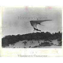 1982 Press Photo Hand gliding over Warren dunes lakefro - RRS28463