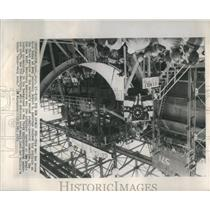 1953 Press Photo Keel Atomic Powered Submarine - RRS11457