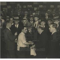 1933 Press Photo Legionnaires Get Tickets - RRS36335