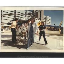 1983 Press Photo UM's Survival Flight Helicopters Servi - RRS90479