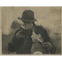 1936 Press Photo Rocky Wolfe Game Wrigley Field Task - RRS05519