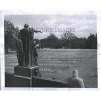 1956 Press Photo Crowde Gravestones Anderson ville - RRS12189