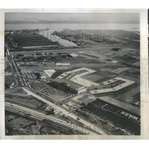 1954 Press Photo Aerial View New York Air Port Turnpike - RRS06409