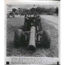 1943 Press Photo Army Artillery Gun Brazilian South Ame - RRS45637