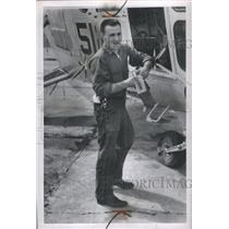 1956 Press Photo Airman Floyd Jr Loading Plane - RRS46293