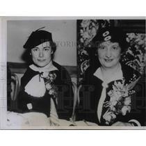 1936 Press Photo Mrs Theo Cobb Landon wife of Kansas Governor Womens celebration