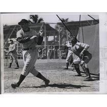1946 Press Photo Ben Chapman Manager Phillies Bats At Spring Training Camp MLB