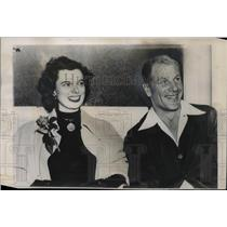 1949 Press Photo Bill Veeck, President of Cleveland with Mary Francis Ackerman