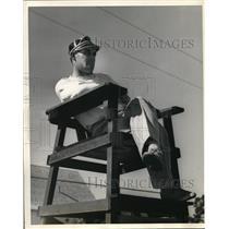 1958 Press Photo Cleveland Indian, pitcher Johnny Allen in Fla. - nes00382