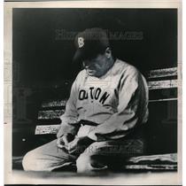 1949 Press Photo Joe McCarthy Manager Boston Red Sox Watches Loss To Senators