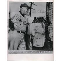 1952 Press Photo Philllies Coach Eddie Sawyer Spring Training Florida