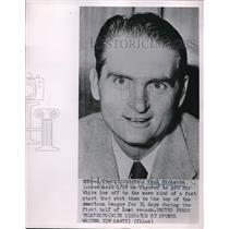 1952 Press Photo Paul Richards Manager Chicago White Sox MLB Baseball Team