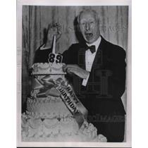 1951 Press Photo Connie Mack of Philadelphia Athletics 89th Birthday - nes02570