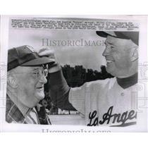 1967 Press Photo Vero Beach, Fla. LA Dodger mgr Walter Alston & Walter O'Malley