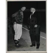 1949 Press Photo Washington Senators Manager Joe Kuhel Argues With 1st Base Ump