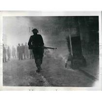 1941 Press Photo Image of Invader in Smoke Filled Maneuvers of The British Army