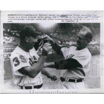 1959 Press Photo Indians mgr Joe Gordon & Chicago White Sox mgr Al Lopez