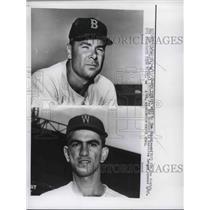 1960 Press Photo Red Sox Tom Sturdivant & Senators Camilo Pascual - nes01487