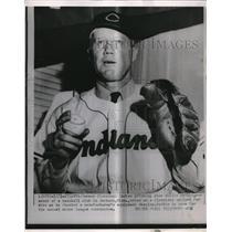 1953 Press Photo Willis Hudlin Pitcher Cleveland Indians Atlanta Minor League
